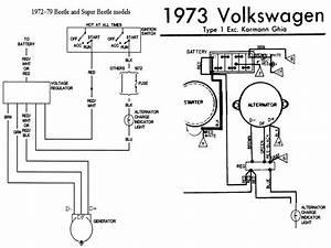 1973 Volkswagen Super Beetle  Converting Generator To