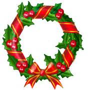 Image result for Happy Holidays Wreath Clip Art