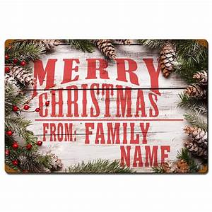 Past, Time, Signs, Pts640, 16, X, 24, In, Merry, Christmas, From, Family, Vintage, Personalized, Sign