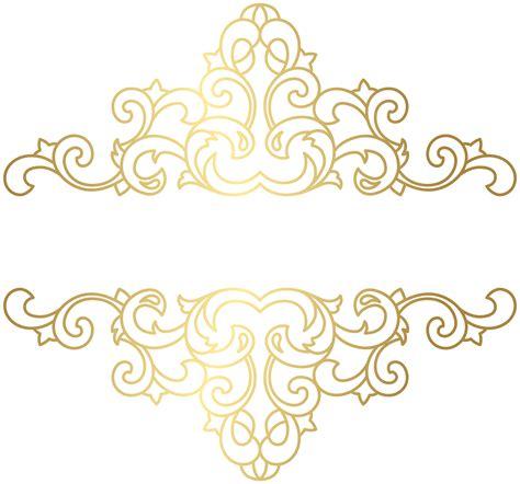 gold ornament png clip art image logotipo de salao arte