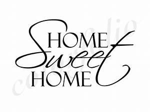 Home Sweet Home Schriftzug : home sweet home wandtattoo home sweet home wandtattoos wallsticker wandtattoo wohnen ~ A.2002-acura-tl-radio.info Haus und Dekorationen