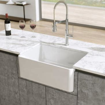 kitchen island with farmhouse sink latoscana ltw2718w 27 quot reversible fireclay farmhouse sink 8248