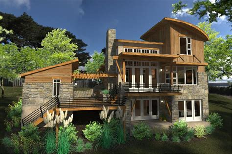 contemporary cottage house plan    bedrm  sq ft home theplancollection