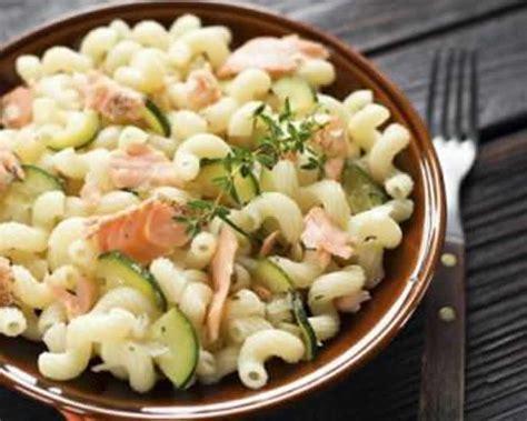 pates au saumon et aux courgettes avec cookeo recette facile