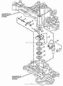 Snapper K55 Tuff Torq Hydrostatic Transaxle Parts Diagram