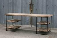 reclaimed wood desk Combine 9 | Industrial Furniture – Reclaimed Wood Desk with shelves (oak)