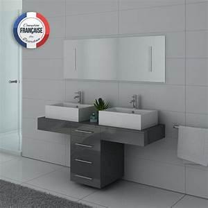 Meuble Salle De Bain Gris : meuble de salle de bain atypique gris taupe meuble de salle de bain atypique ref dis988gt ~ Teatrodelosmanantiales.com Idées de Décoration