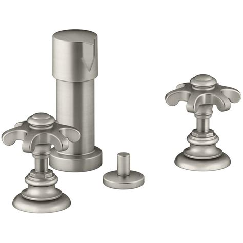 kohler artifacts prong 2 handle bidet faucet in vibrant
