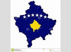 Kosovo map with flag stock illustration Illustration of