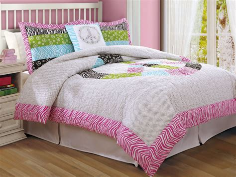 peace sign bedding comforter set in zebra and pinks in