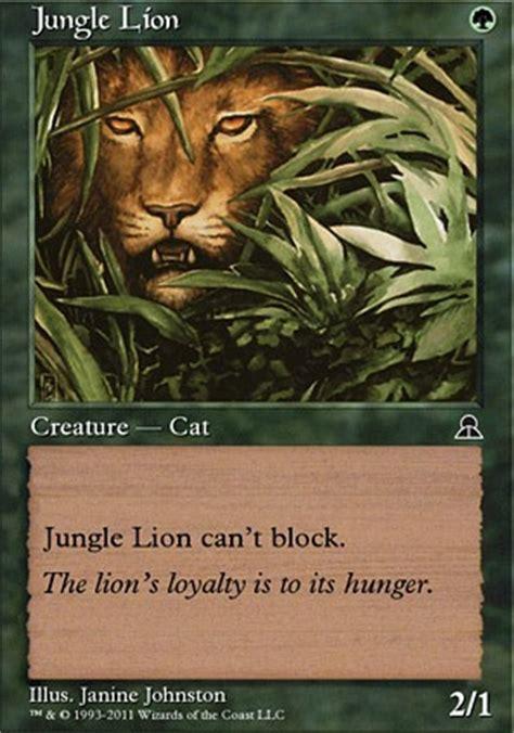 zoo deck mtg legacy jungle me3 mtg card