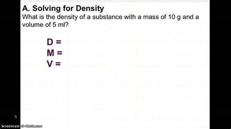 Density Word Problems Take 2 Youtube