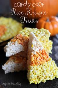 Halloween Candy Corn Rice Krispie Treats