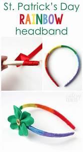 St. Patrick's Day Craft - Rainbow Headband - Cutesy Crafts