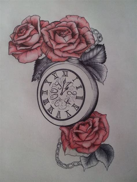 latest clock tattoo designs