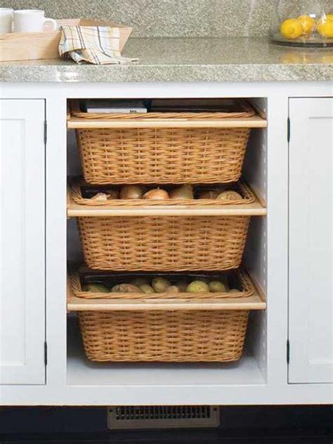 kitchen cabinet storage baskets bhg centsational style 5808