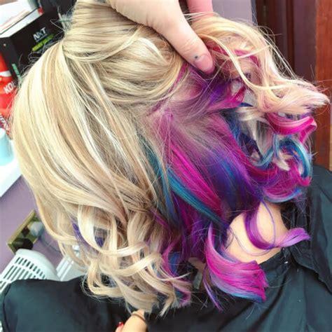 cool rainbow hair color ideas trending