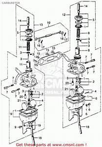 Honda Sl350 Motosport 350 K2 1972 Usa Carburetor