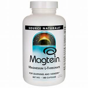 Source Naturals Magtein Magnesium L-threonate 667 Mg 180 Caps