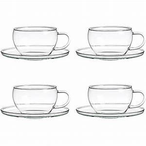 Teetassen Aus Glas : teetassen glas simple ml double wall glass thermal mug with coaster elegant and extra large ~ Buech-reservation.com Haus und Dekorationen