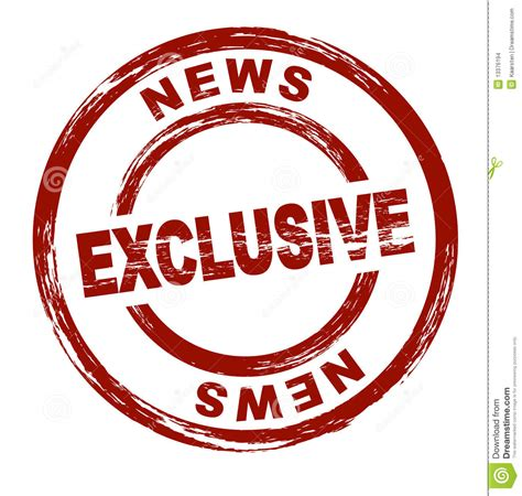 Exclusive News stock vector. Illustration of graph ...