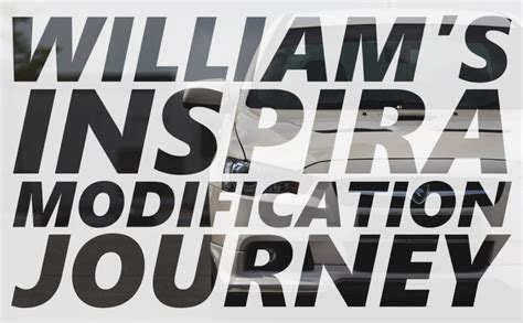 Modification Journey william s inspira modification journey because race car