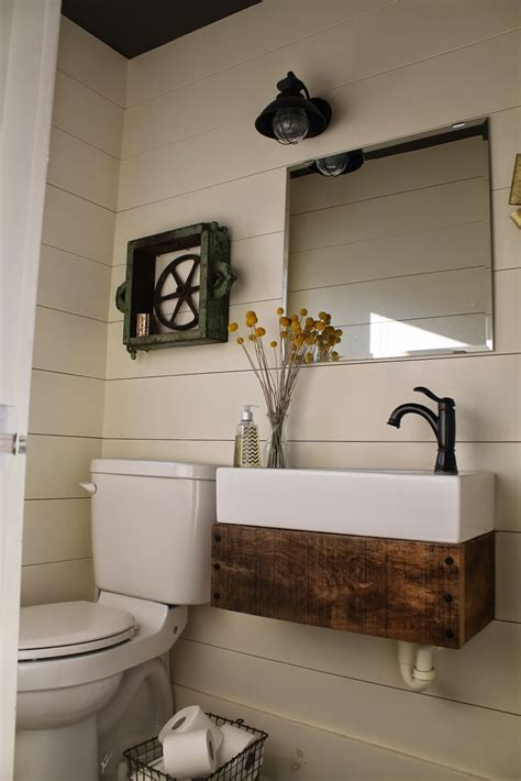 reclaimed wood floating vanity remodelaholic bloglovin