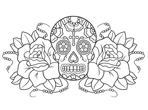 coloring free free printable day of the dead coloring pages best