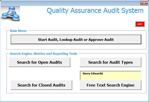 Quality Assurance Audit System (qaas