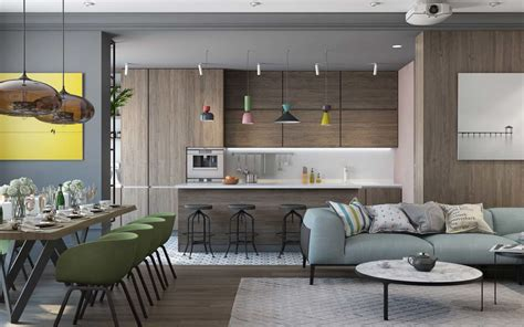 pair  modern homes  distinctively bright color themes