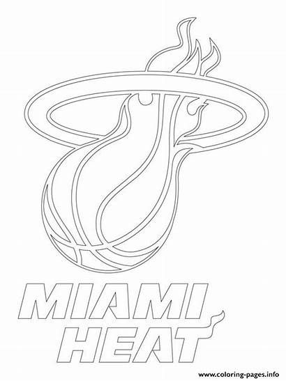 Coloring Miami Heat Pages Nba Toronto Printable