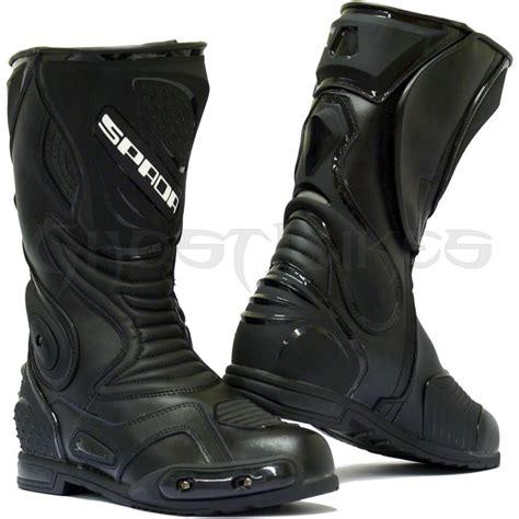 buy motorcycle waterproof boots spada st1 wp waterproof leather motorcycle motorbike race