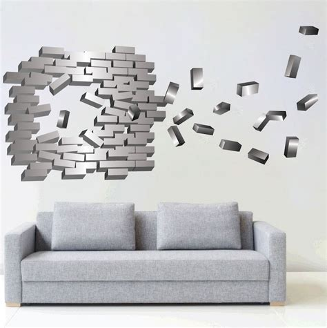 Abstract Brick Wall Decal  Modern Wall Stickers Primedecals