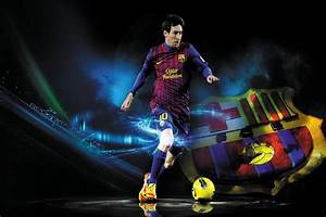 24x35inch Football Star Lionel Messi Poster HD HOME WALL