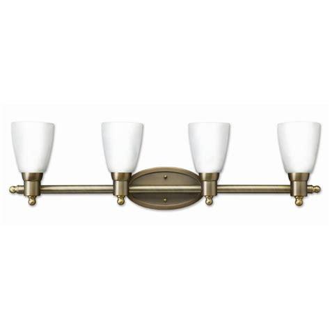 Antique Bathroom Vanity Lights by Shop Earth Lighting 4 Light Danube Antique Brass