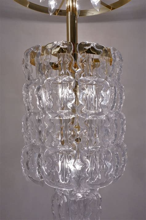 Glass Chain Chandelier by Angelo Mangiarotti Style Chandelier Murano Glass Chain