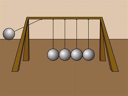 Newton Momentum Cradle Laws Animation Transfer Law
