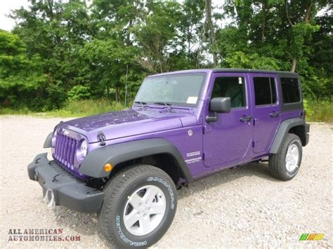 jeep purple 2017 2017 jeep wrangler unlimited sport 4x4 in extreme purple