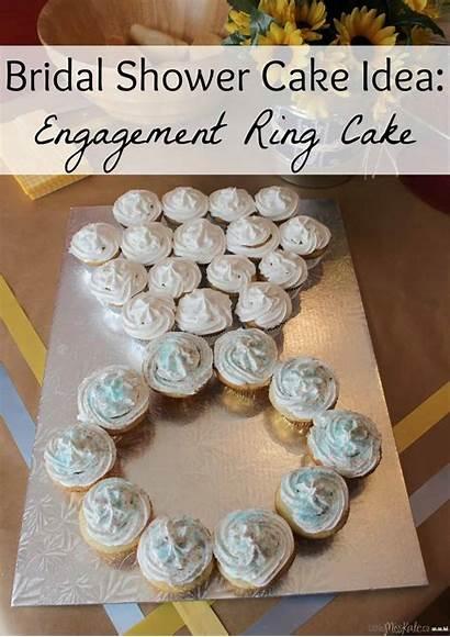 Cake Engagement Bridal Shower Ring Idea Party