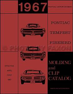 1967 Pontiac Firebird Parts Book Supplement Reprint