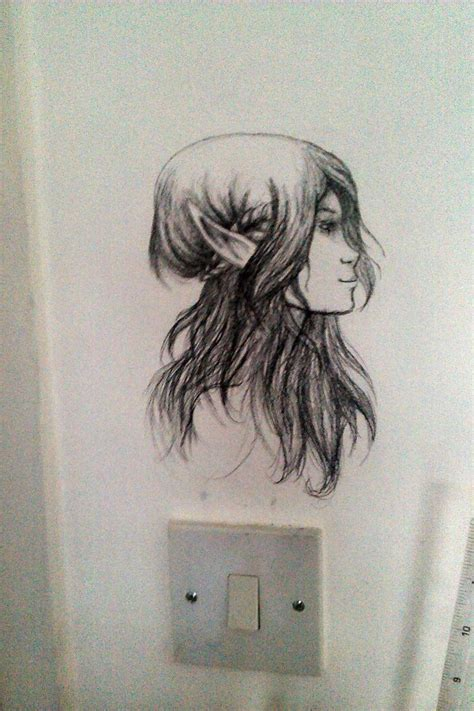 Bedroom Wall Drawings drawing on my bedroom wall by cazml on deviantart