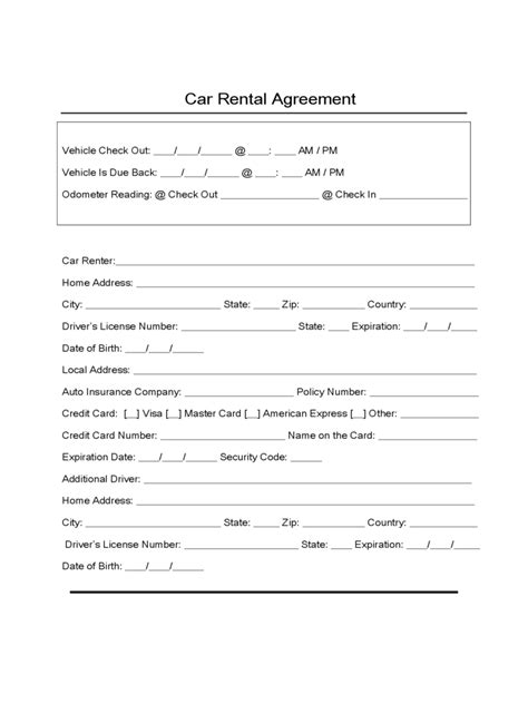 lease a sle form for car lease contract template blank vlcpeque