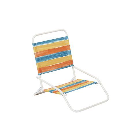 low back beach chair striped outdoor living patio