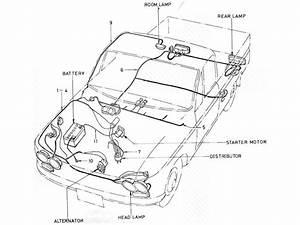 Datsun Pickup  520  521  Wiring  J13