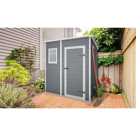 keter manor outdoor storage shed grey white 6x4ft buy