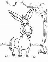 Donkey Coloring Pages Shrek Funny Printable Cartoon Drawing Mule Bestcoloringpagesforkids Sheets Para Animal Dibujos Fun Adult Books Balaam Getcolorings Getcoloringpages sketch template