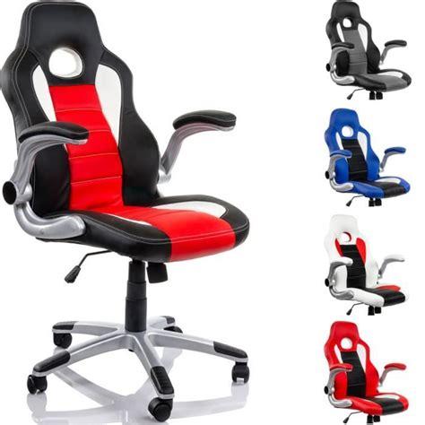 fauteuil de bureau sport racing fauteuil de bureau racing noir blanc achat