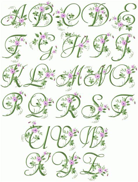 elegant floral initials