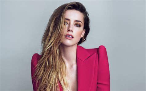 women amber heard blonde long hair actress wavy hair
