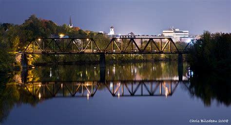 railroad bridge  auburn lewiston maine bilodeau
